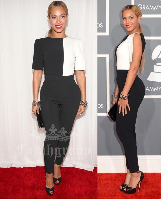 grammy awards 2013, red carpet beyonce, beyonce en pantalones