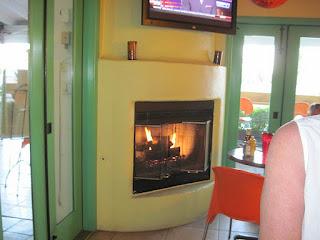 Inside firepit
