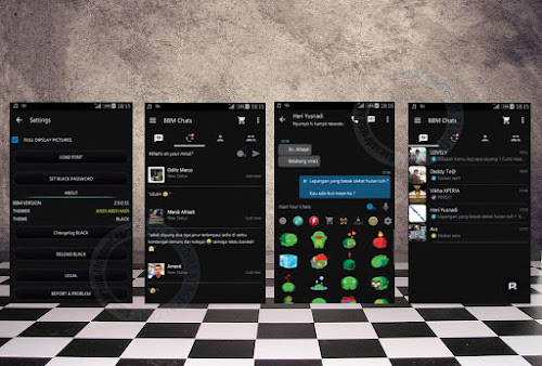 BBM Mod Theme Black Accent Android v2.9.0.51 APK