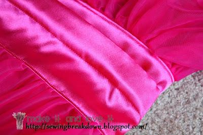 sew fluffy  skirt for girl