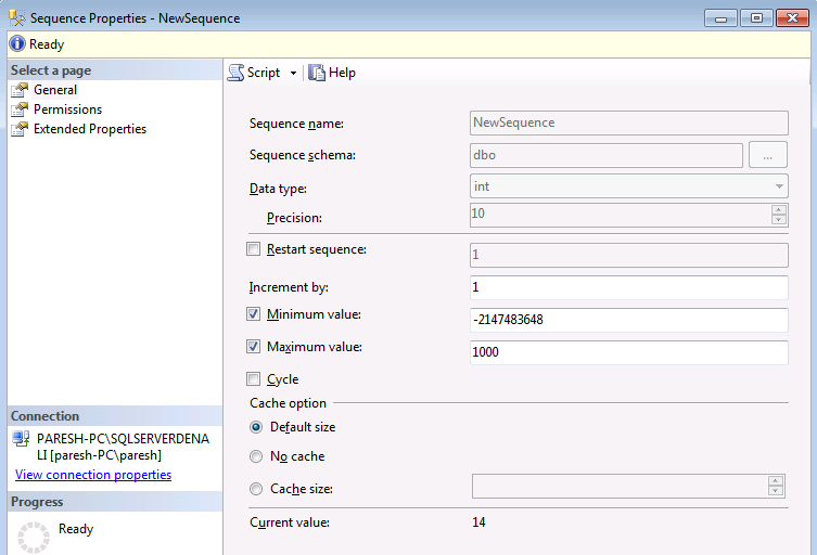 SEQUENCE Introduction In SQLServer 2011 The SQL Ideas