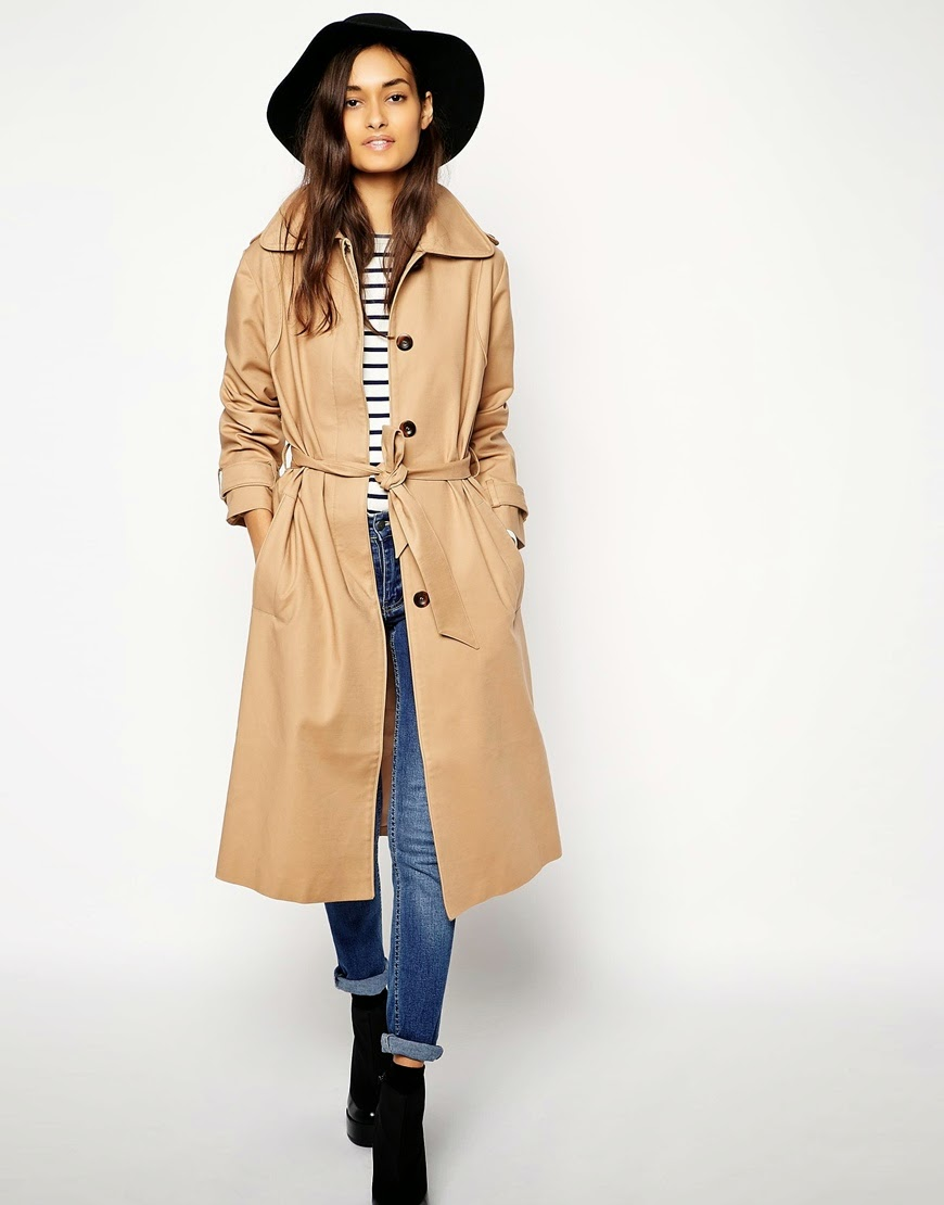 camel mac coat, midi mac coat, mac with piping,