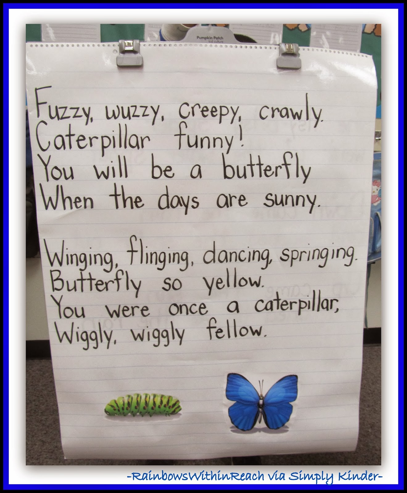 Spring Anchor Chart: Butterfly from RainbowsWithinReach via SimplyKinder