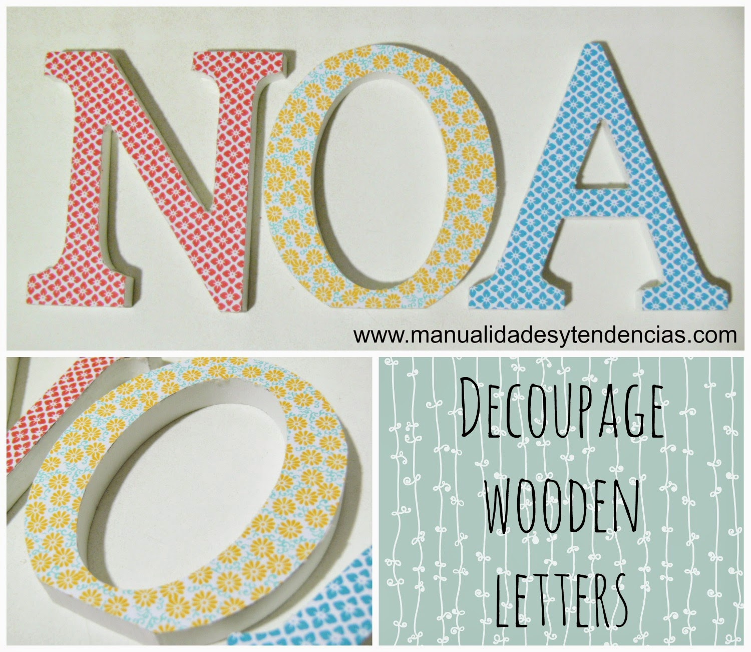 decoupage wooden letters tutorial