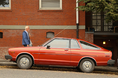 1979 Datsun 210 hatchback.