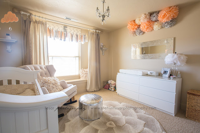 Nursery Peach Amp Grey Angelic Nursery Life Amp Baby