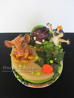 simba timon pumba bolo cake