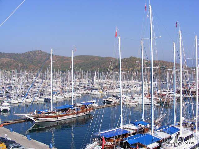 Fethiye Marina From The Alesta Yacht Hotel