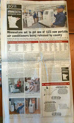 Full page ad for ArcticPro air conditioner by Universal Media Syndicate