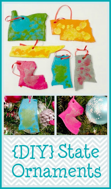 remember faraway family with diy state ornaments