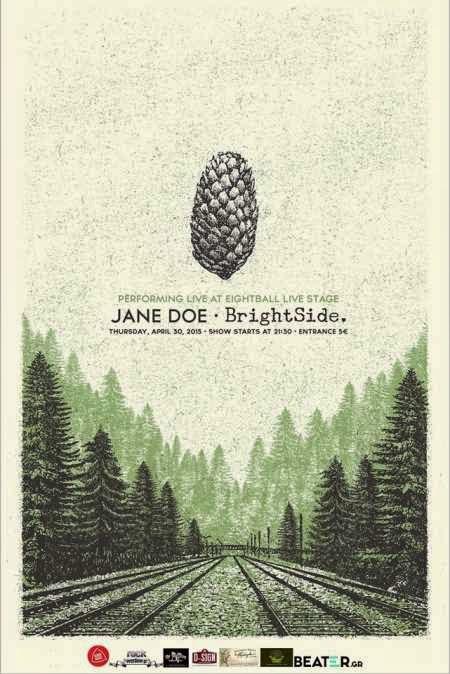 JANE DOE, BRIGHTSIDE: Πέμπτη 30 Απριλίου @ Eightball
