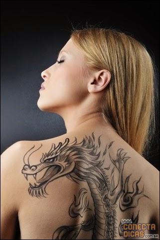Dragão tatuagem para mulher