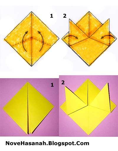 tutorial origami harimau