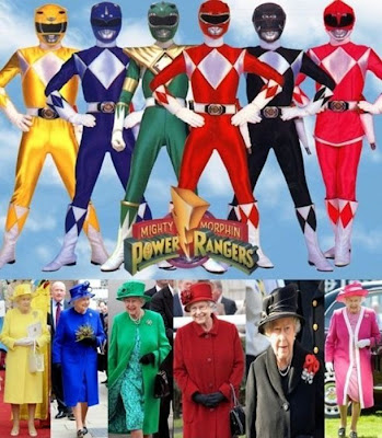 Queen Elizabeth vs Power Rangers Reina Isabel Power Rangers