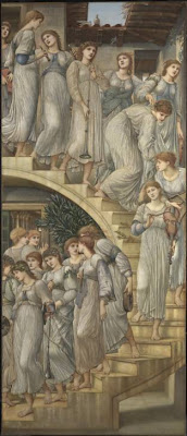 Sir Edward Coley Burne-Jones - The golden stairs 1880