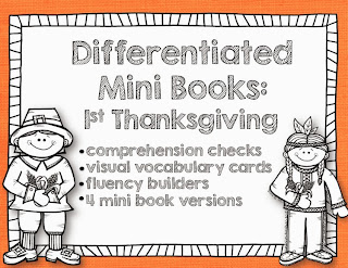 http://www.teacherspayteachers.com/Product/The-1st-Thanksgiving-Differentiated-Mini-Books-More-986561