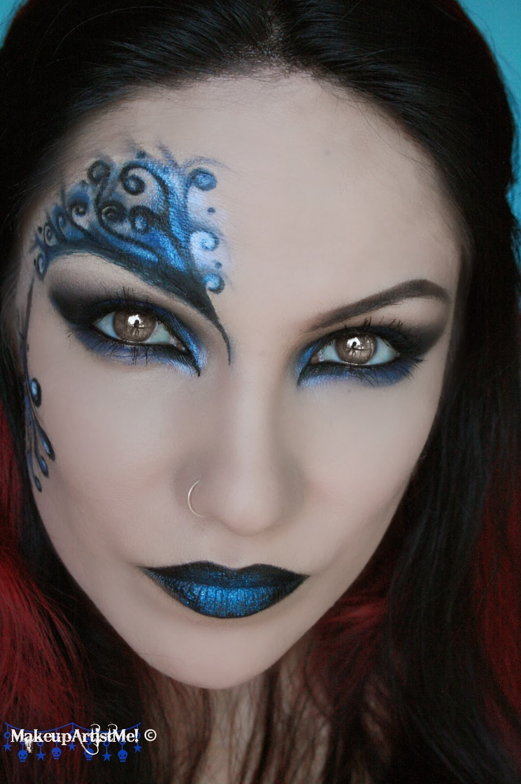 Make up Artist Me!: Blue Secret blue masquerade makeup - Makeup Mask Ideas