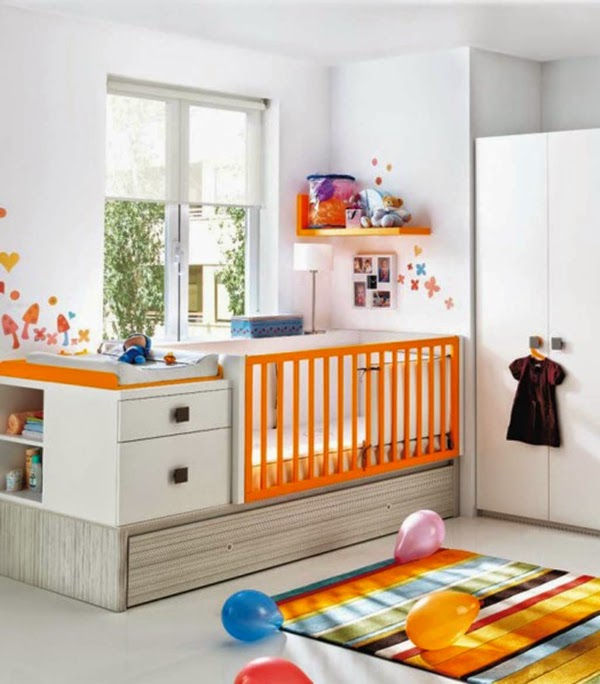 15 ultra modern baby room ideas furniture and designs for Baby room decorating ideas uk