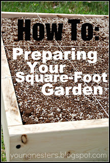 Preparing garden for square foot gardening