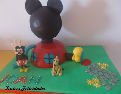 Tarta la casa de Mickey Mouse