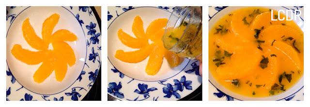 Receta de naranjas aromatizadas en su jugo 04