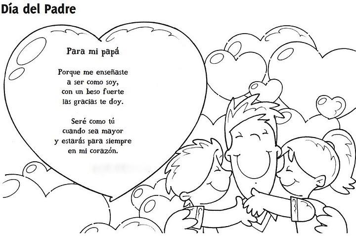 Para colorear: Tarjeta para los papás ~ EBI México