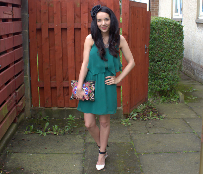 Dress and Fascinator outfit