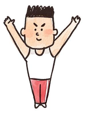 体操選手のイラスト