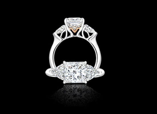 Modern Brilliant Princess Cut Diamonds
