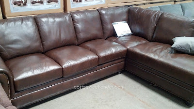 Marks & Cohen Savoy 2 piece Leather Sectional: a classic L-shaped couch