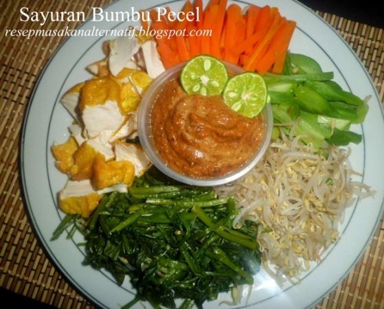 Resep Sayuran Bumbu Sambal Pecel Enak Dan Praktis Resep Masakan Indonesia Praktis