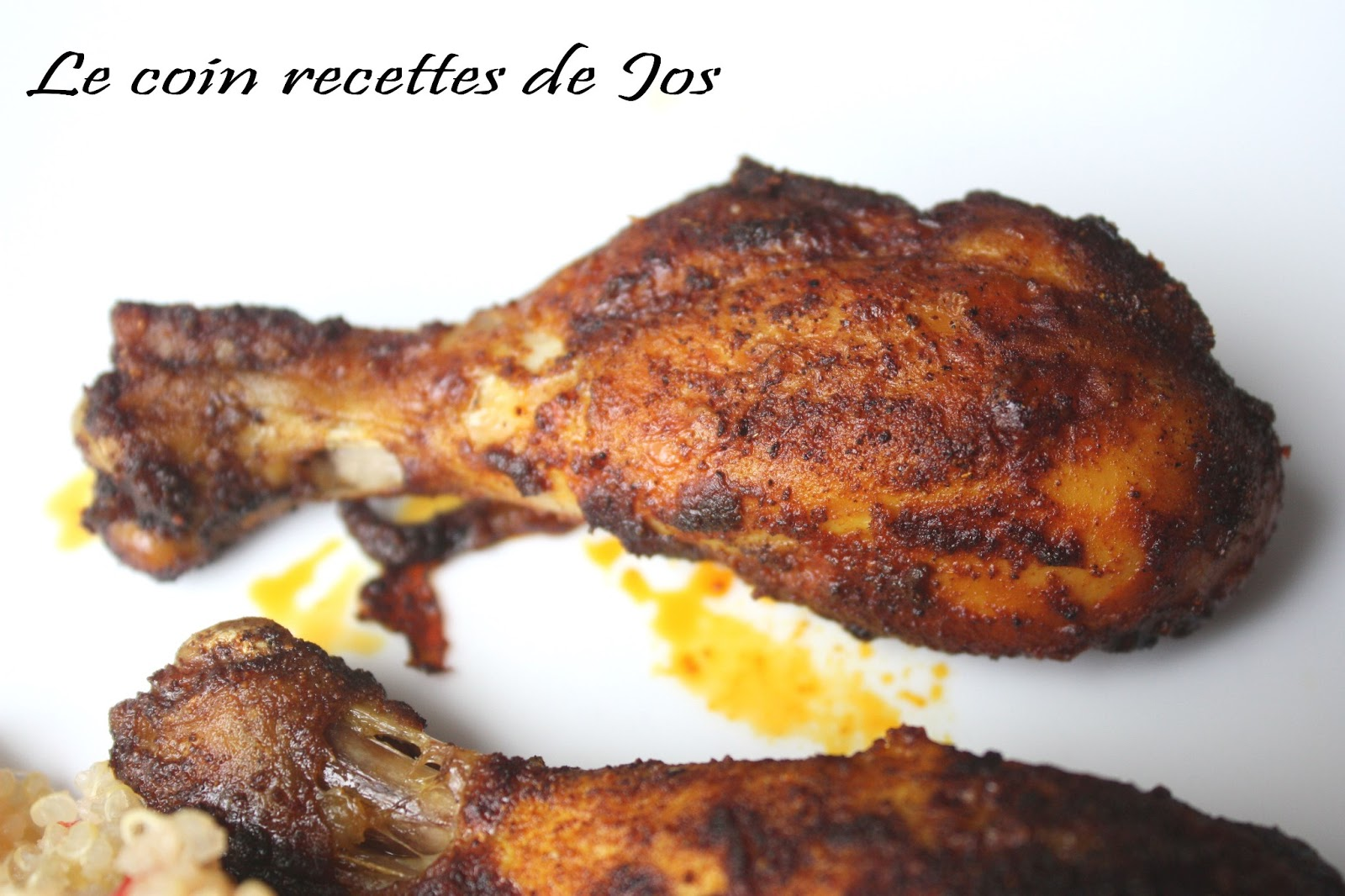 Le coin recettes de jos pilons de poulet au paprika et au curcuma - Pilon de poulet a la poele ...
