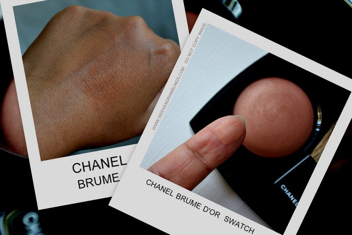 Chanel Makeup Joues Contraste Blush Brume D'Or Bombay Express Collection Beauty Blog Reviews FOTD Looks Swatches
