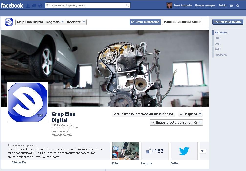 Página Facebook de Grup Eina Digital
