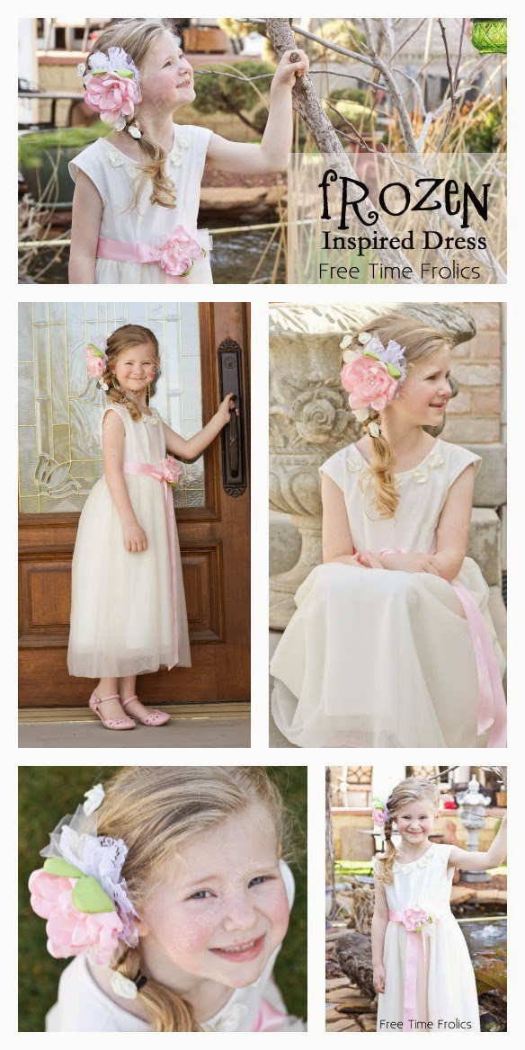 Cream easter dress vintage inspired collage www.freetimefrolics.com #dress #diy