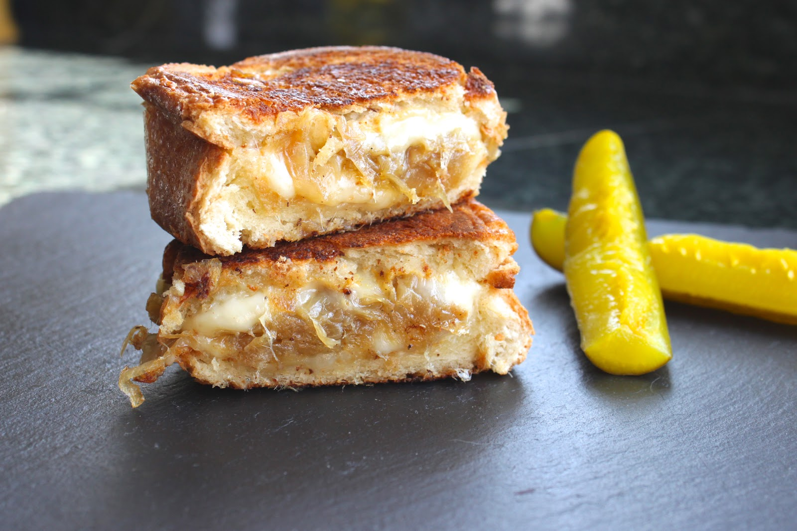 ... Chew on This | Grilled Gruyere Cheese and Caramelized Onion Sandwiches