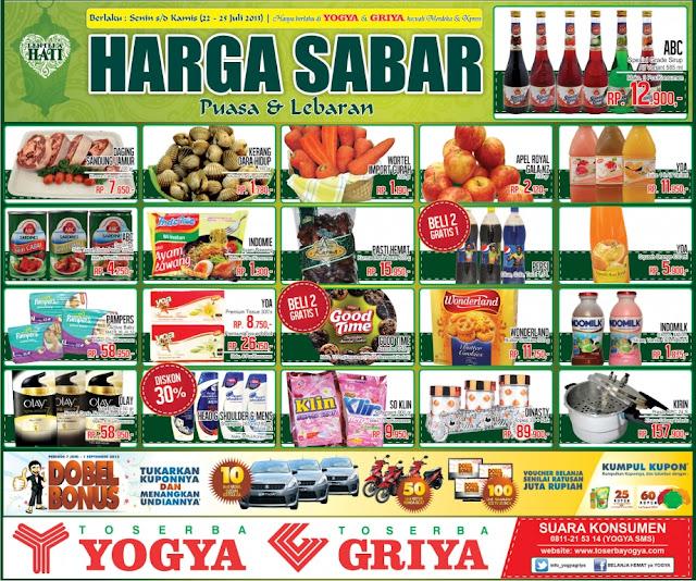 Toserba Yogya Weekday Promo (Harga Sabar) Terbaru Periode 22-25 Juli 2013