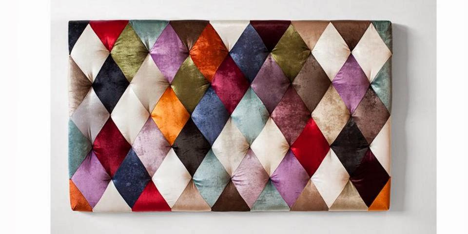 Cabecero tapizado patchwork capitone.