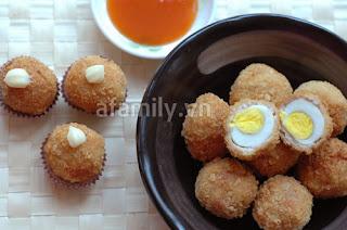 Thịt bọc trứng cút chiên xù ngon mắt