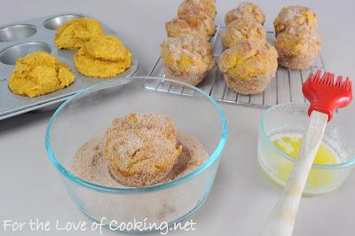 Baked Pumpkin Donut Muffins