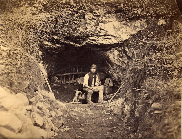Entrance to Kent's Cavern. 1890. Photograph by William Whitaker.