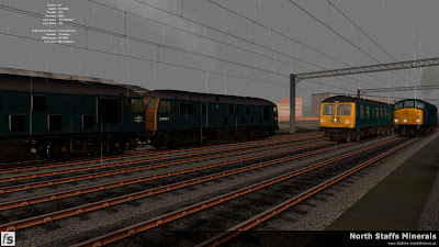 Fastline Simulation - North Staffs Minerals: Busy times at Cliffe Vale as 2 Class 24s pass with 9H77 Trentham to Partington, a Class 105 DMU forms a Crewe to Lincoln St. Marks service and Class 44 44005 makes it's way to Toton with 7Z16 from Etruria. North Staffs Minerals, a route for RailWorks Train Simulator 2012.
