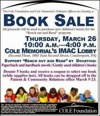 3-26 Book Sale At Cole Memorial