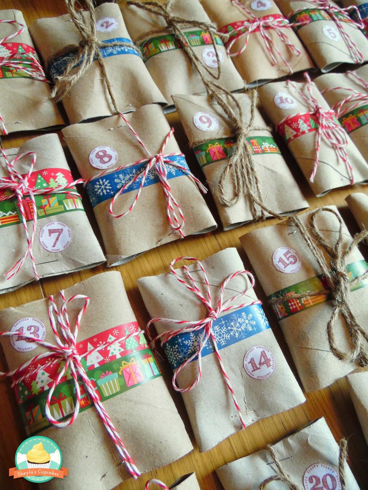 Sheyla 39 s cupcakes calendario de adviento con turr n casero for Calendario de adviento casero