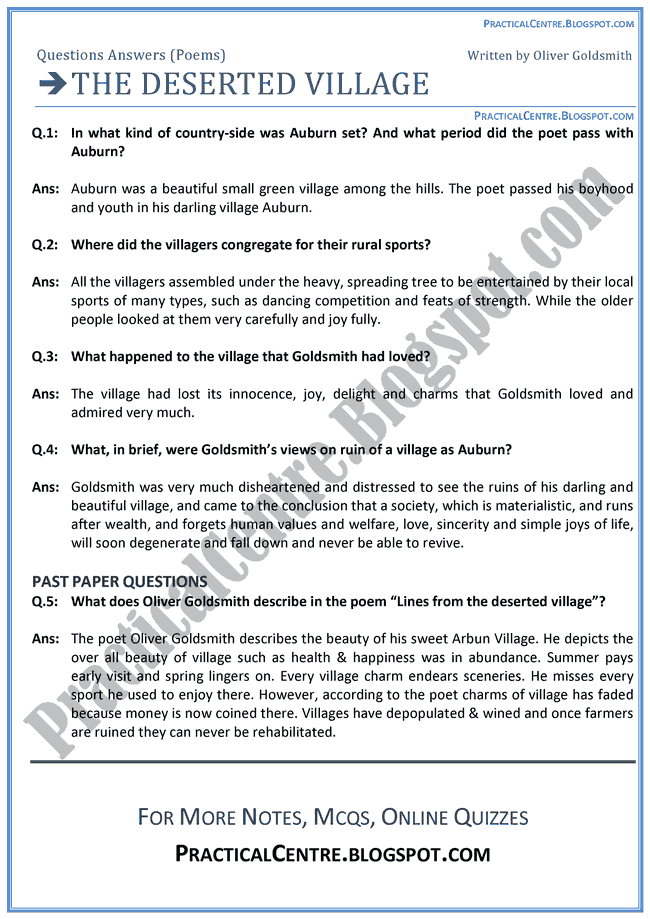 The-Deserted-Village-Poem-Questions-Answers-English-XI