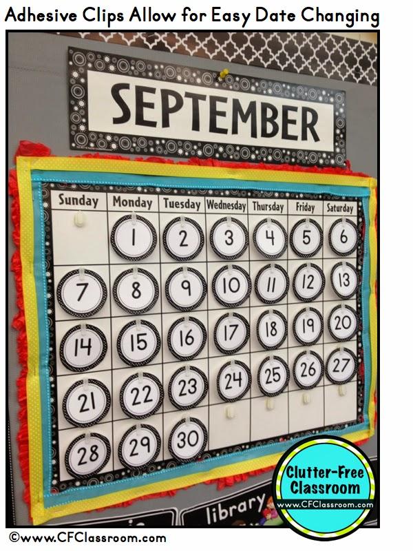 Calendar Ideas Pictures : Clutter free classroom calendar makeover