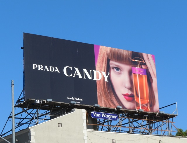 Prada Candy perfume billboard