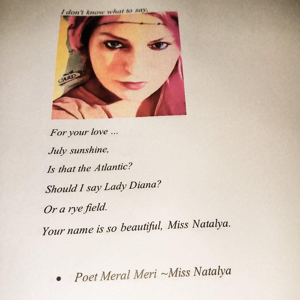 Poet Meral Meri ~Miss Natalya