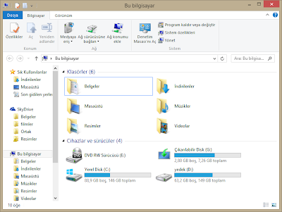 Windows 8.1 Bu Bilgisayar