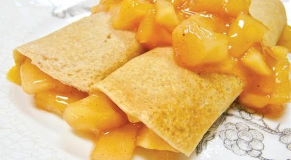 Crepes con salsa de pi a y jengibre postres y masitas for Salsa para crepes